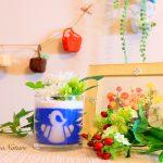 【開店祝い】パン屋さんへ向けた「お店のロゴ入り」+造花アレンジの贈り物