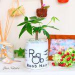 【美容院への開店祝い】落ち着いた色合いで植物を使ってお店のロゴを入れて欲しい