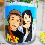 【結婚祝いサプライズ♡】新郎新婦の似顔絵をサンドアートした友人からのサプライズギフト♡